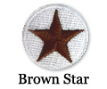 Sample 10-Pack Brown Star Patches