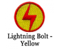 Lightning Bolt Patch - Yellow / Red